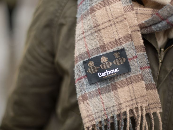 Julie wore her Barbour Classic Beadnell Wax Jacket accompanied by her Barbour Scarf.