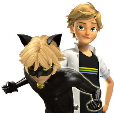 Unbeknownst to her, he possesses a magical ring that transforms him into her partner in fighting crime, the superhero Chat Noir.
