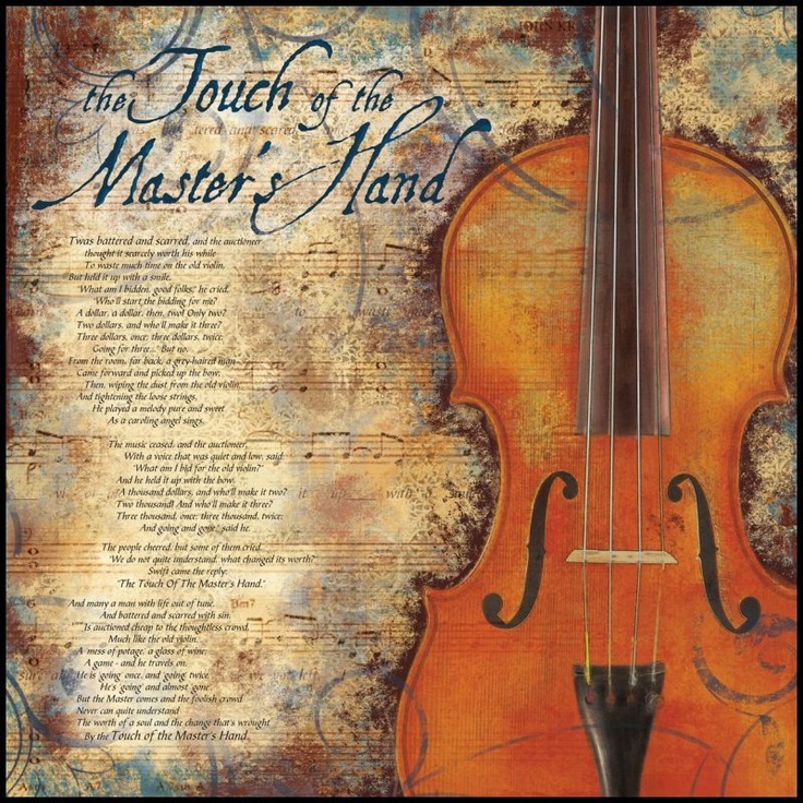 The Touch of the Master's Hand Poem on Wall Hanging ...