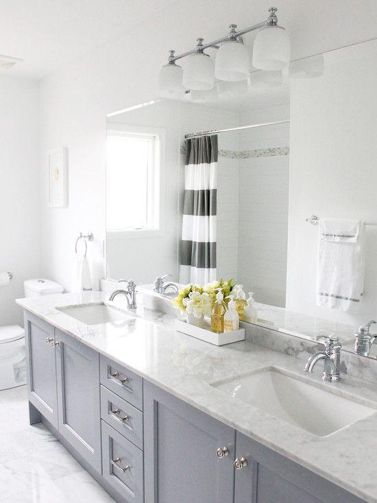 Gray Bathroom Design -love this!