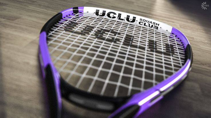 Image created for the UCLU Squash Racket, rendered in KeyShot.