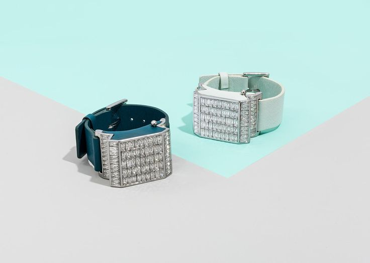 """""""Disco"""" Jawbone Bracelet in teal and silver and light blue and silver, $65. Photo: BaubleBar."""