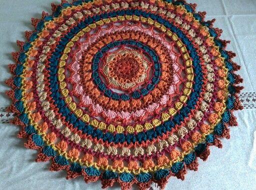 My version of the Autumn Mandala doily from  Bella Crochet  https://m.facebook.com/millcrea/