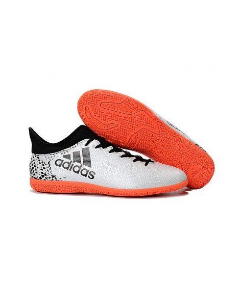 Adidas X 16.3 Indoor Mænd Fodboldstøvler Hvid Sort Rød