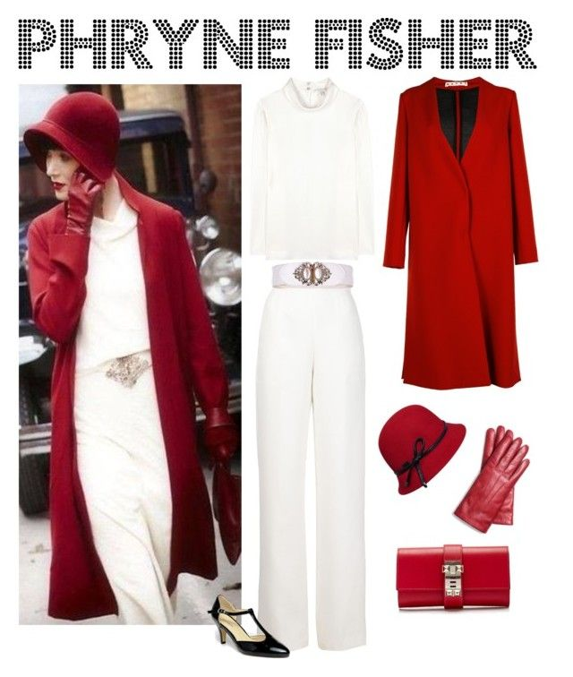 """""""Phryne Fisher"""" by chimerical4 ❤ liked on Polyvore featuring rag & bone, Marni, Maison Rabih Kayrouz, yeswalker, Betmar, Coach and Hermès"""