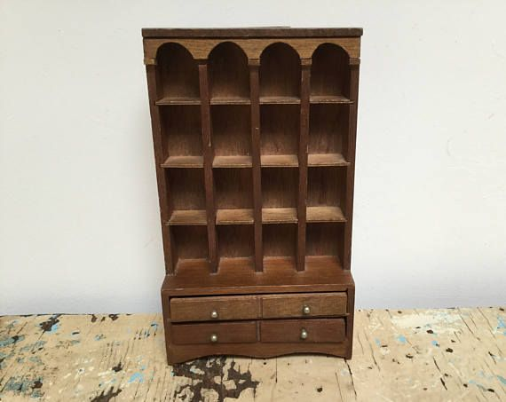 Vintage wood Thimble collection display case wallhanging