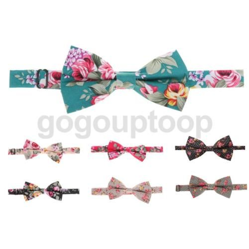 Vintage #bowtie bow tie floral flower #wedding party costume #adjustable,  View more on the LINK: http://www.zeppy.io/product/gb/2/282218478650/