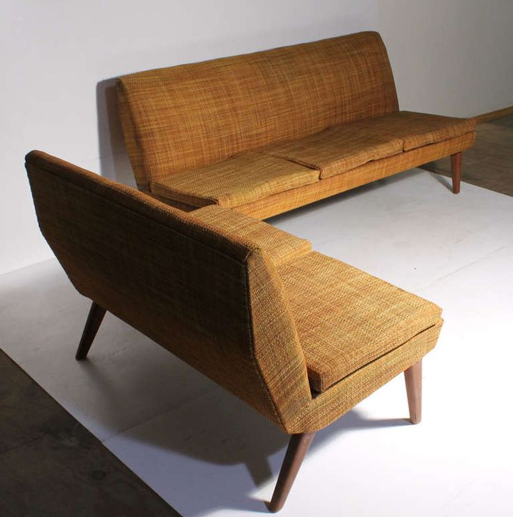Danish Modern L Sofa in style of Milo Baughman | From a unique collection of antique and modern sofas at http://www.1stdibs.com/furniture/seating/sofas/