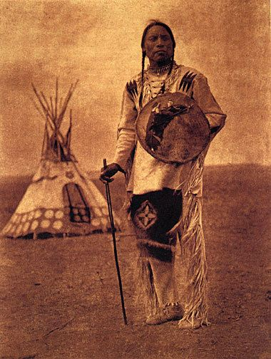 Whistle Smoke 15x22 Edward Curtis Native American Indian Art Photograph