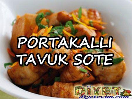 Portakallı tavuk sote - diyet yemekleri