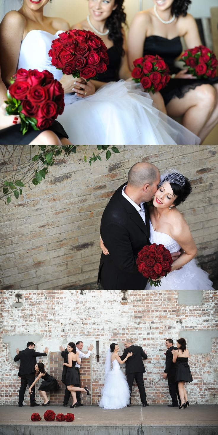 White, red and black wedding colour theme. ~Sydney wedding photography by Yulia Photography~ www.yuliaphotography.com.au