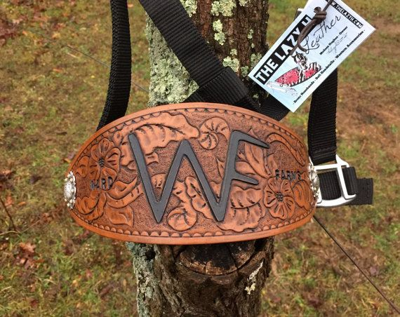 Custom Brand / Logo Wide Leather Bronc by TheLazyHStudiosLLC
