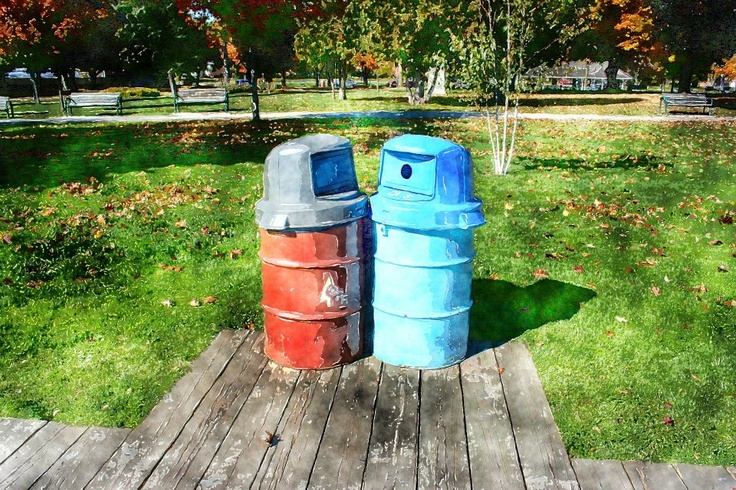 Trash Can Love - Couchiching Park, Orillia, Canada circa 2007