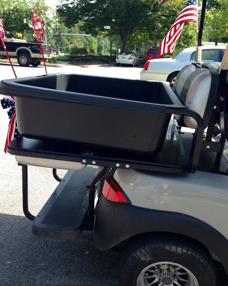 101 best golf cart accessories from top to bottom images on a golf cart cargo box is a handy golf cart accessory sits on top of solutioingenieria Images