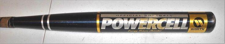 Worth CU31 Alloy Powercell ERC 66E End Loaded Softball Bat  34 in  34 oz #Worth