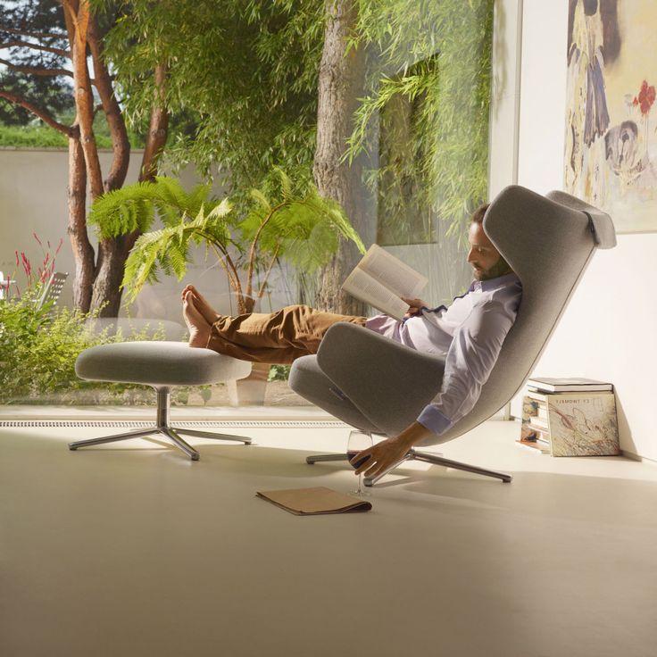 Grand Repos Lounge-Sessel & Ottoman von Vitra bei ikarus.de