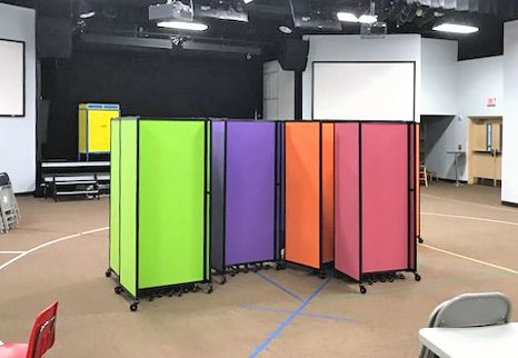 Need room dividers for bible study or Sunday School? Our rolling portable partitions allow you to create and separate space for various activities.