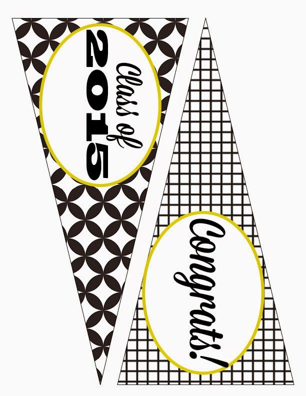 Free Class of 2015 Graduation Party Printables