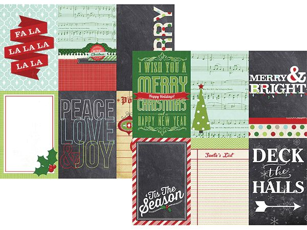 Simple Stories - December Documented Collection - Christmas - 12 x 12 Double Sided Paper - 4 x 6 Vertical Journaling Card Elements at Scrapbook.com