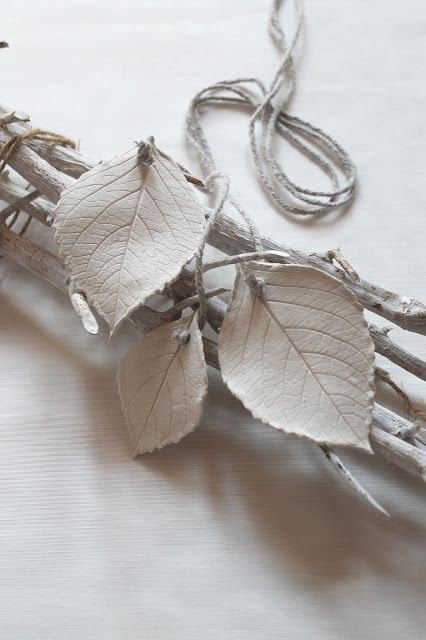 Easy – DIY – Blätter abformen mit lufttrocknender Modelliermasse