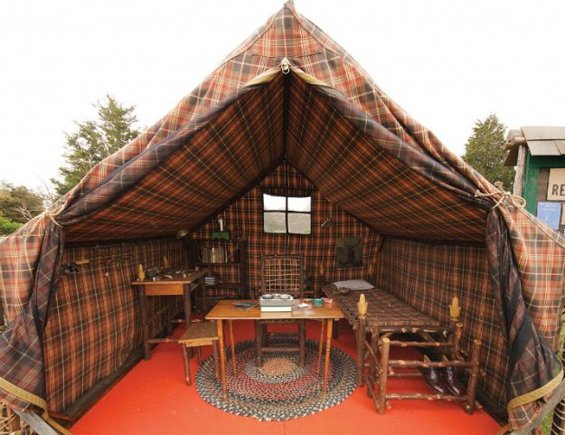 Khaki Scout tent from Moonrise Kingdom. I want this in my backyard