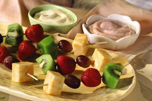 Cheese and Fruit Kabobs recipe