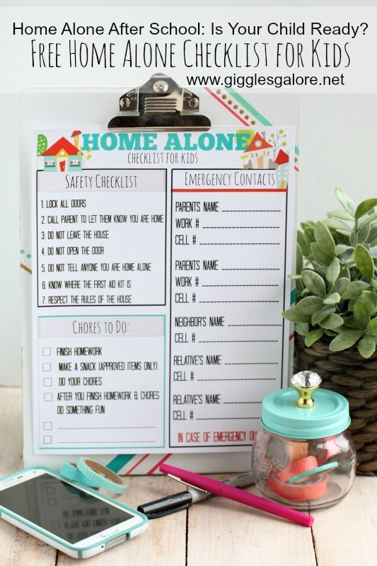 Are your kids ready to stay home alone after school? Download this free checklist for kids to help put everyone at ease.
