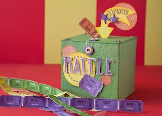 DIY raffle box for a carnival-themed party. #CTMH #DIY #Party