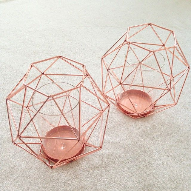 So Kmart Albany finally has these geometric candle holders. I don't know where I'll put these but I couldn't resist!