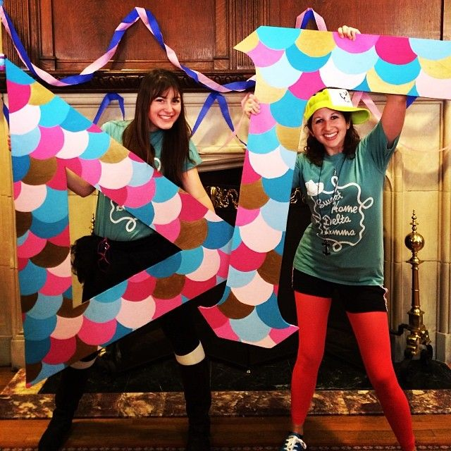 scalloped letters! so cute! But in kappa delta