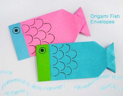 DIY Origami Fish Envelopes