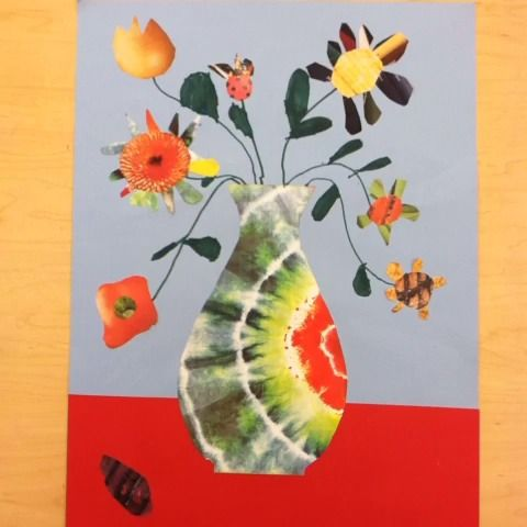 Amy Traggianese's Third grade collages inspired by Romare Bearden