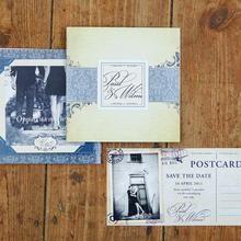 Modern Vintage Wedding Invitations.  #wedding #invitation #modernvintage