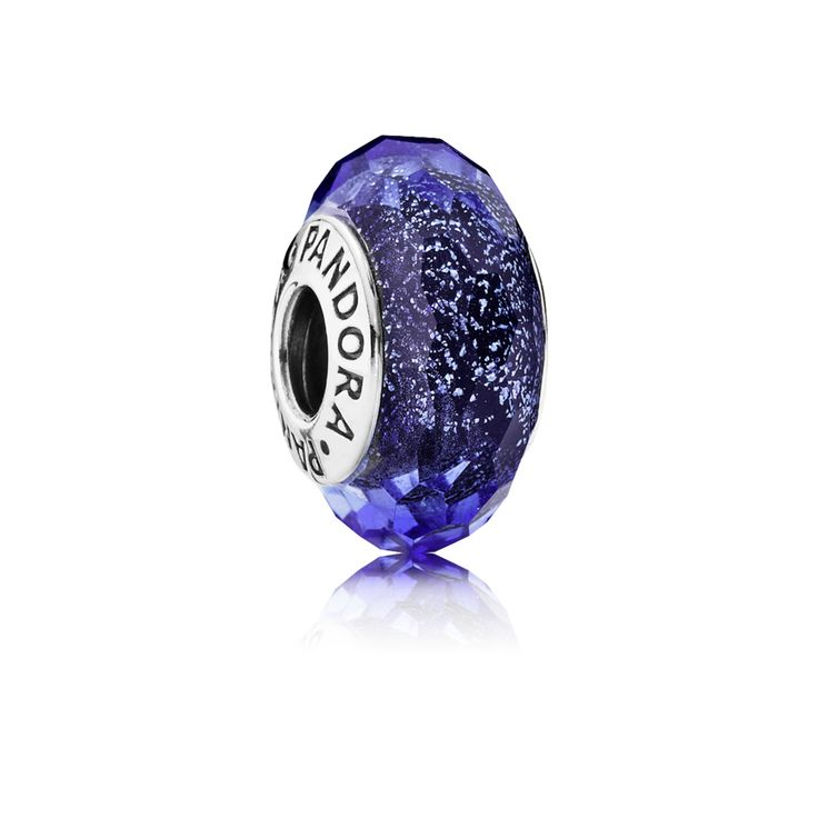 Iridescent Blue Faceted Glass Murano charm - Pandora UK | PANDORA