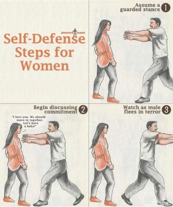 Self Defense Steps for Women...!!!! ;): Giggle, Selfdefense, For Women, Funny Stuff, Funnies, Humor, Self Defense