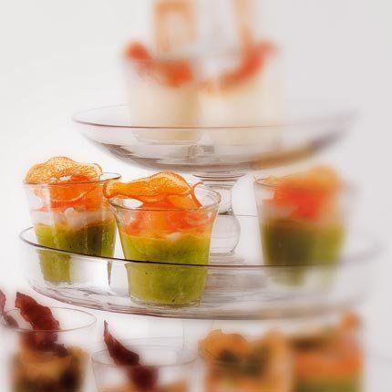 Émulsion d'asperges vertes, tartare de Saint-Jacques aux agrumes, éventail d'orange