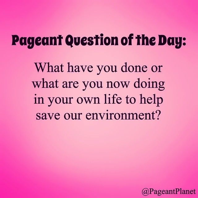 Can you answer this interview question? If so, try these 233 free ones! http://thepageantplanet.com/233-practice-pageant-questions/
