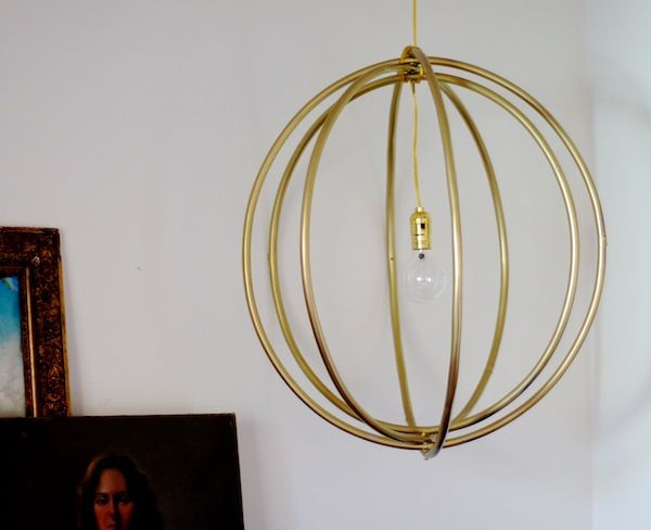 Emily Henderson — Stylist - BLOG - 99cent Hula Hoop DIY hanging light