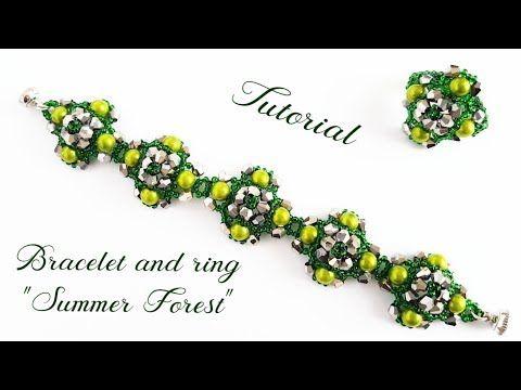 "#МК - Браслет и кольцо ""Летний лес"" | Bracelet and ring ""Summer forest"" - YouTube"