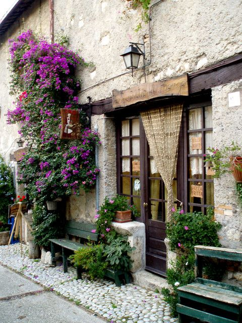 | ♕ | Cafe in Rieti - Lazio Italy, reminds me of a restaurant we used to eat at all the time in France.