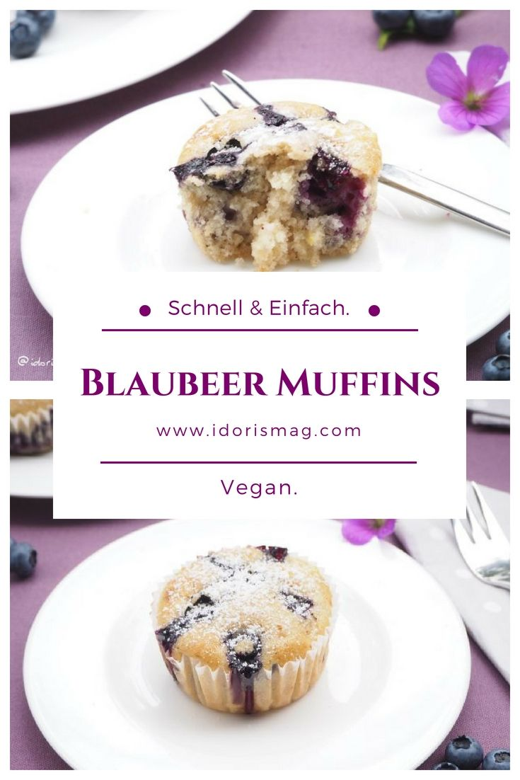 Veganes Rezept Fur Schnelle Einfache Leckere Heidelbeer Blaubeer Muffins Mit Apfel Vanille Und Zimt Schnel Rezepte Lecker Apfel Muffins Rezept