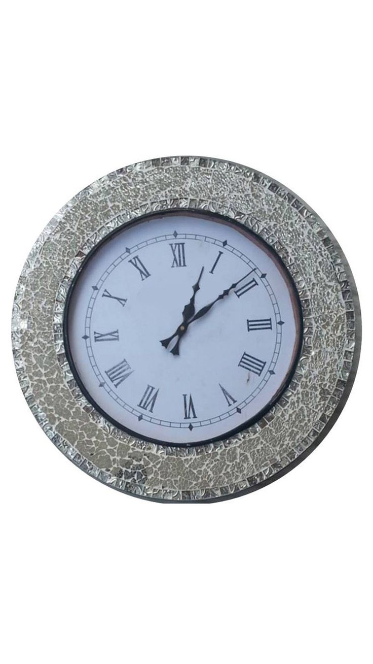Silver Mosaic Wall Clock Online at Low Prices in India