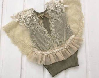 cod206 Sitter size photography  photo props vintage lace and