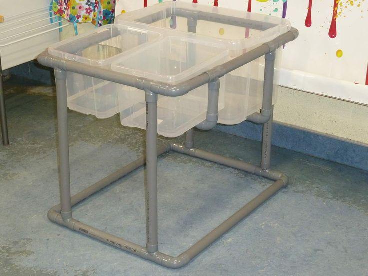J'avais bien envie de me lancer dans un atelier de manipulation libre d'eau, mais l'installation de ma table de granulés pouvait difficilement se transformer pour accueillir de l'eau, car elle est faite avec beaucoup de carton!!! Alors j'ai décidé de...