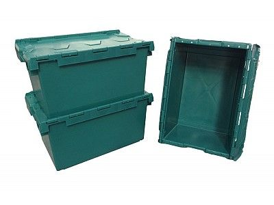 80 Litre Extra Large Stack - Nest Attached Lid Container - Lidded Plastic Storage Box