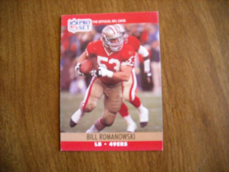 Bill Romanowski San Francisco 49ers LB Card No 642 (FB642) 1990 National Football Card - for sale at Wenzel Thrifty Nickel ecrater store
