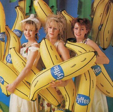 Bananarama - Siobhan Fahey, Sarah Dallin, and Keren Woodward.