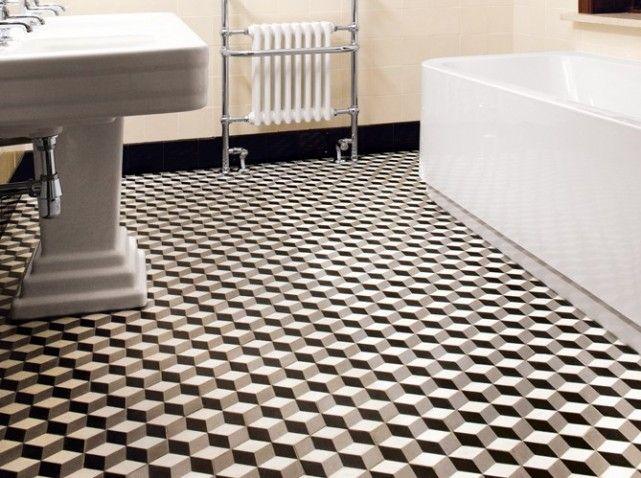 Bathroom Retro Spirit Salle De Bains Annees 30 Carreaux De Ciment Salle De Bain Et Carreau