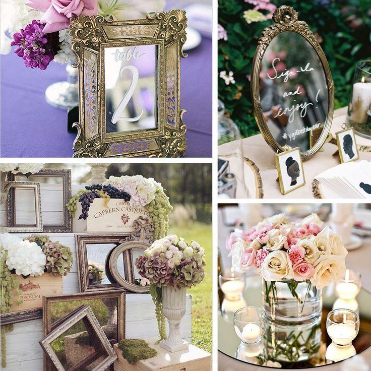 Düğün dekorasyonunda aynalar ile harikalar yaratabilirsiniz.