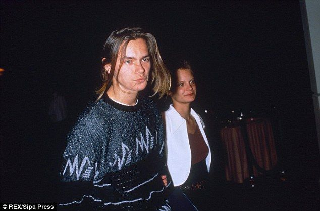 River's death. Above, pictured with ex-girlfriend Martha Plimpton